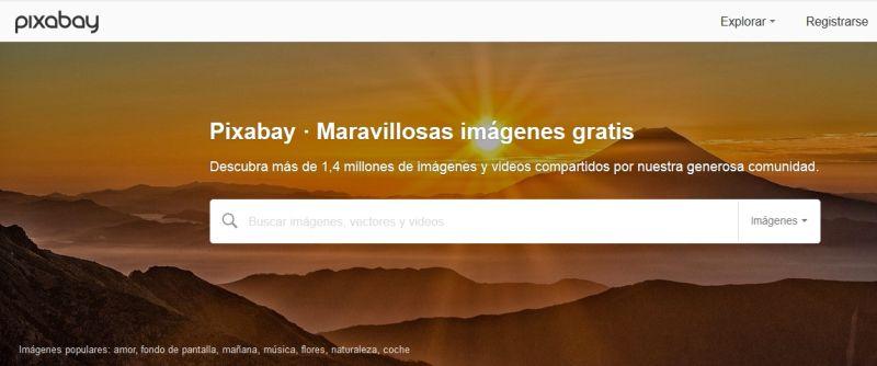 Los mejores bancos de imagenes gratis - Pixbay