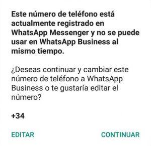 Cambiar de WhatsApp normal a WhatsApp Business