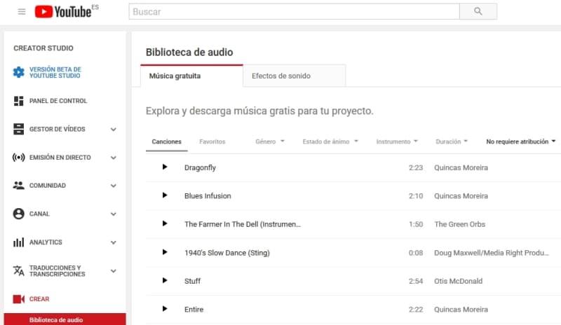 Descargar musica gratis libre de derechos - Youtube Library