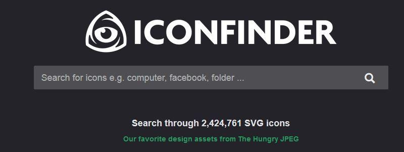 Descargar Iconos gratis con Iconfinder