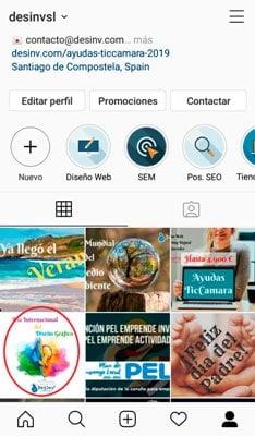 Selecciona la imagen de tu galeria - Alt text instagram