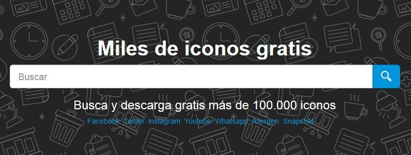 Descargar Iconos gratis con Icon-icons
