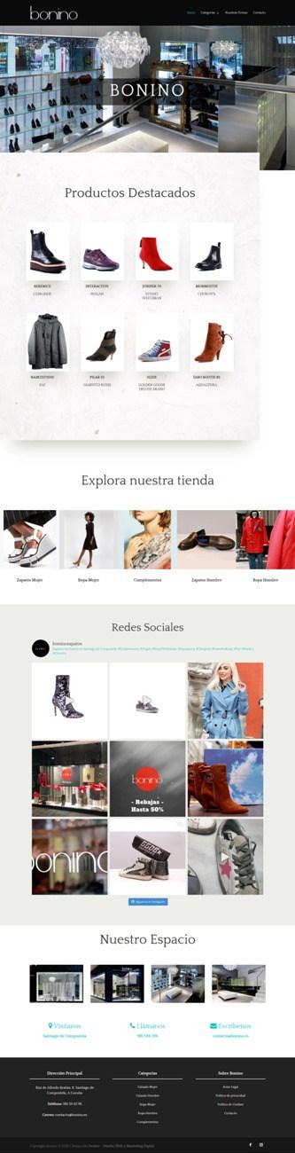 Desarrollo Tienda Online - Bonino Zapateria