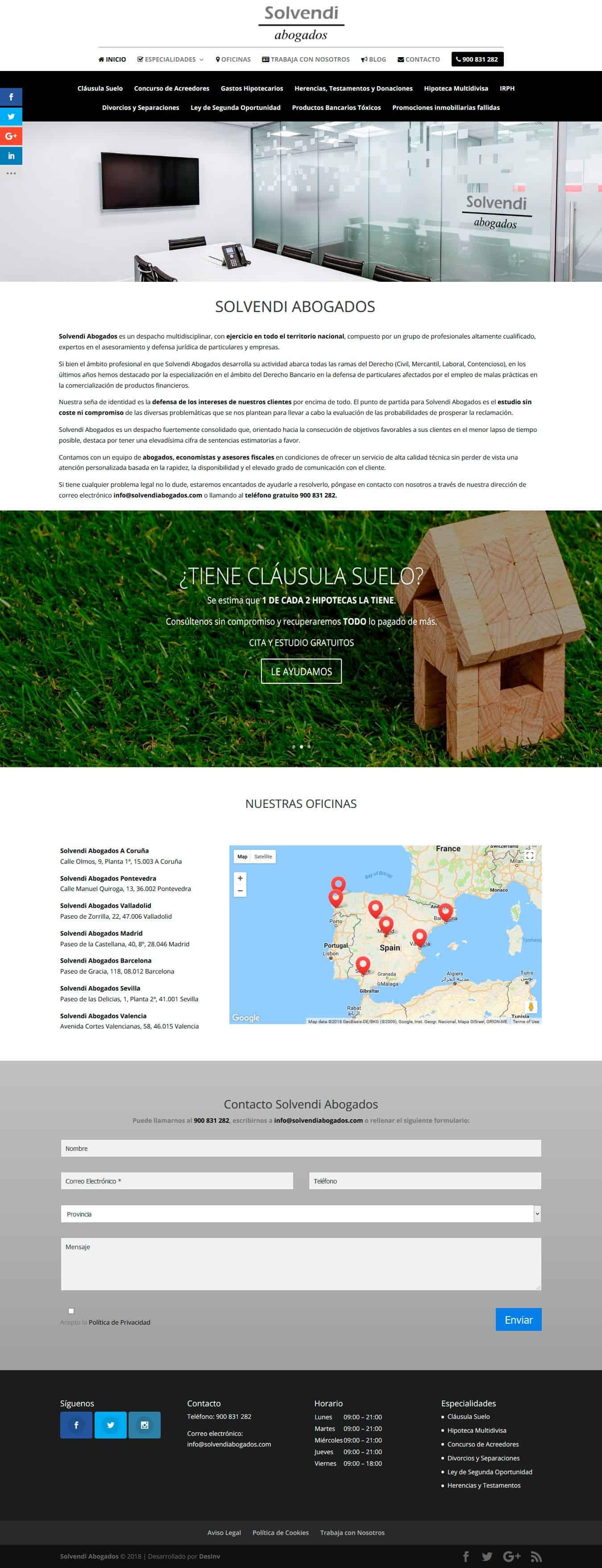 Desarrollo Web Abogados Galicia - Solvendi Abogados