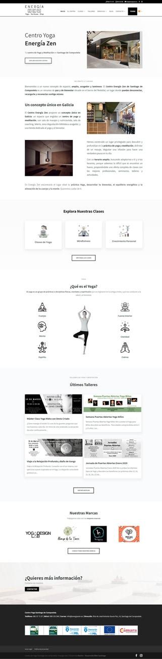 Desarrollo Web Centro Yoga