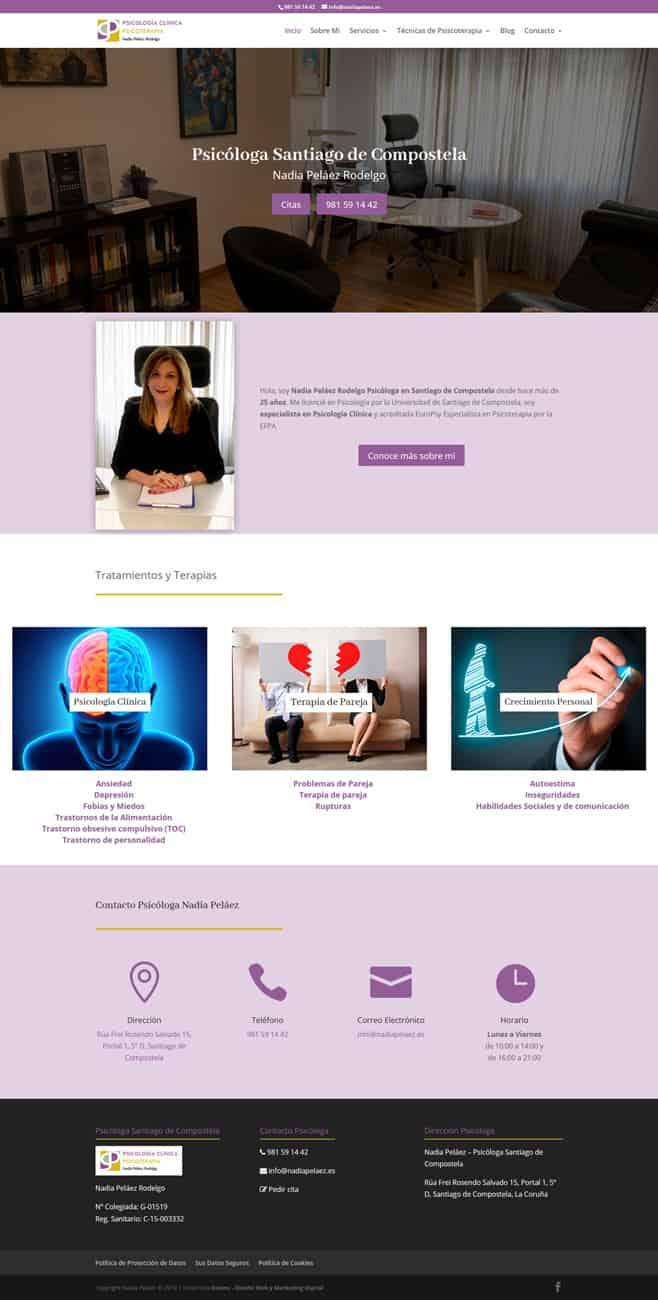 Desarrollo Web Clínica Psicología