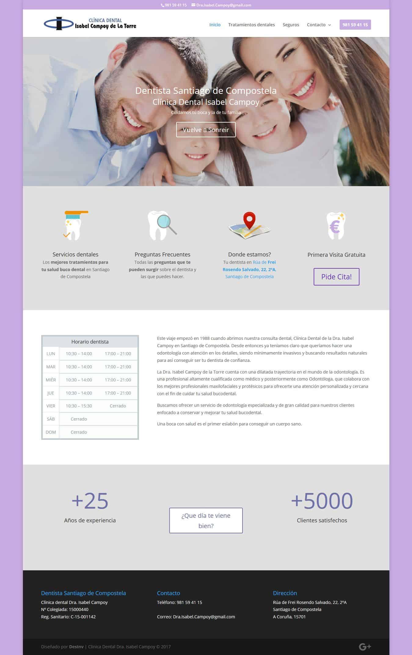 Desarrollo Web Clinicas dentales