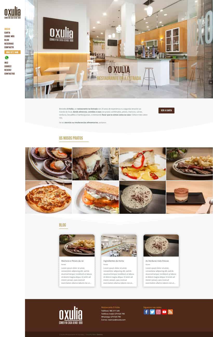 Desarrollo Web Restaurante - O xulia