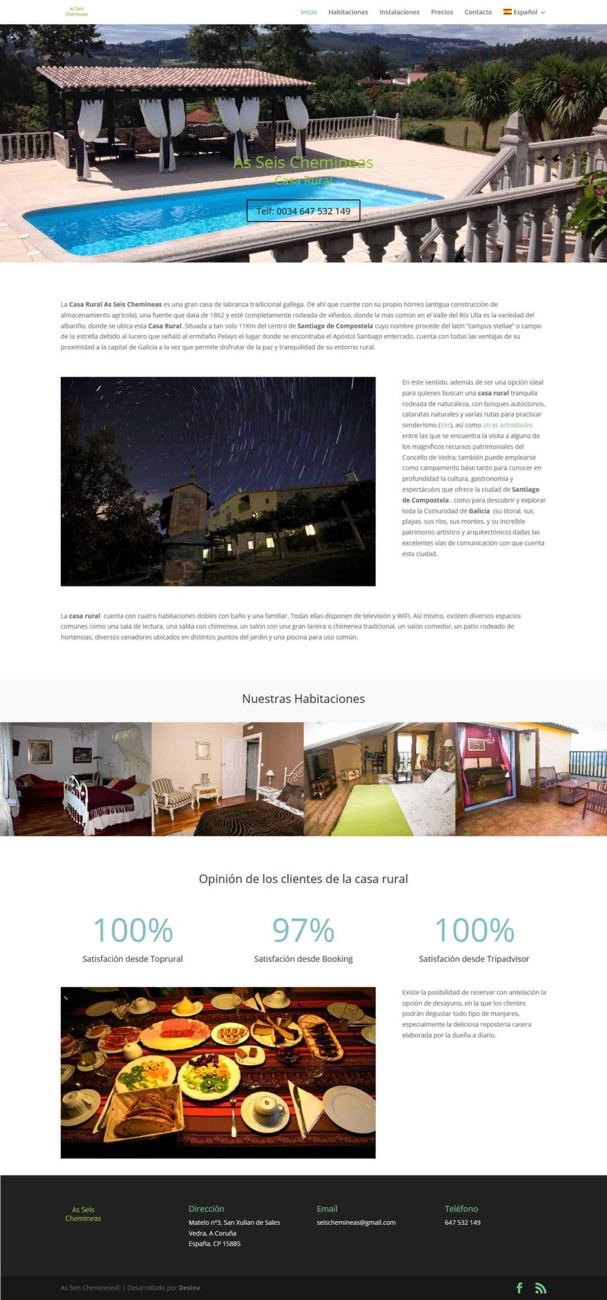 Desarrollo Web hoteles y casa rural