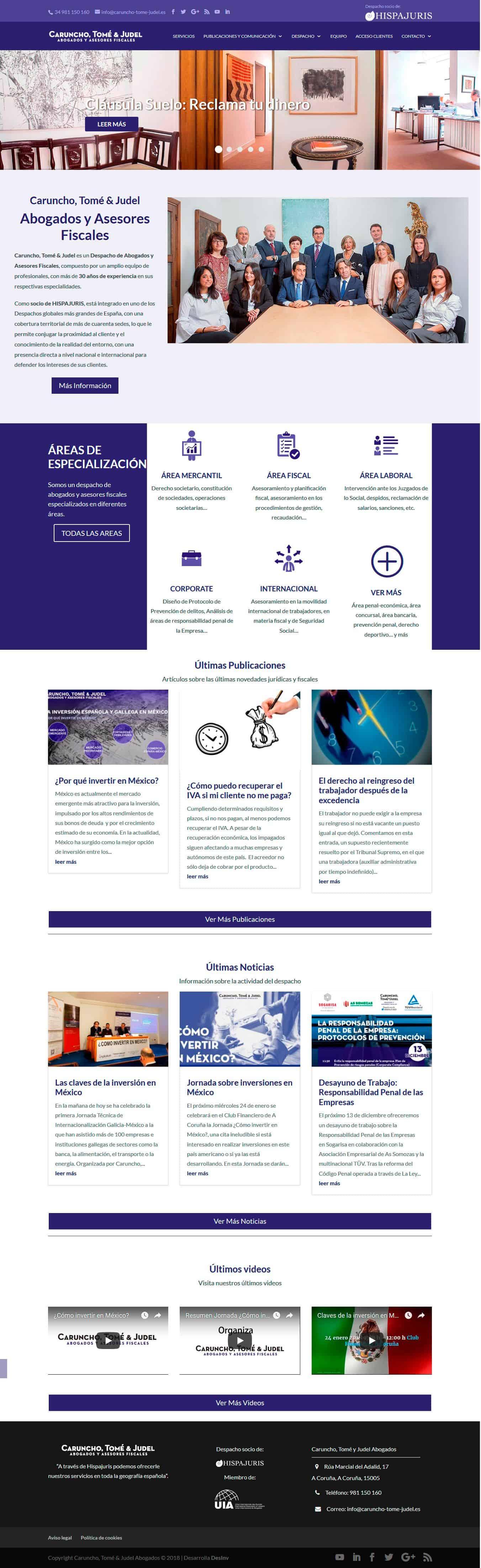 Diseño Web Abogados Coruña - CTJ Abogados