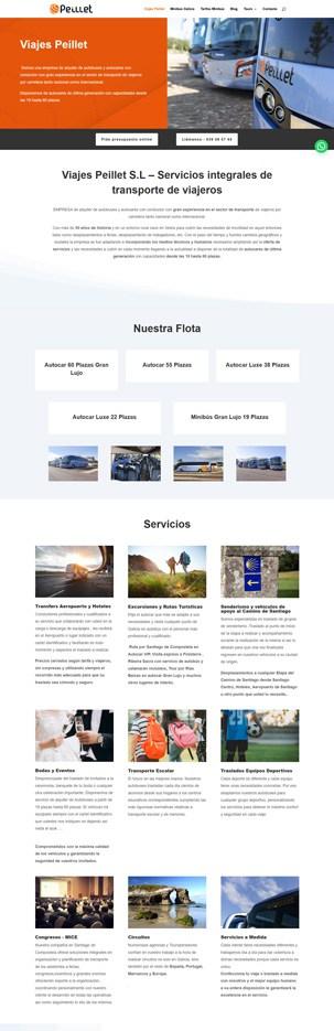 diseño web empresa de autobuses